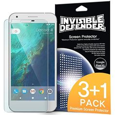 Google Pixel Xl Screen Protector Invisible Defender [max Clearness][case Compatible] Lifetime Warranty Perfect Touch Precision High Definition (hd) Protective Film (4-pack) For Google Pixel Xl 2016