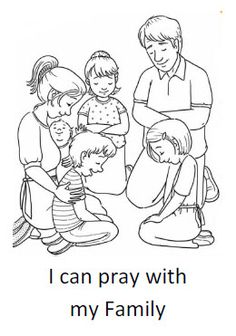 I can pray with my family - Coloring Sheet
