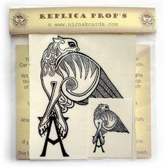 Angel's Gryphon Tattoo Buffy Replica Temp Tattoo x 3   eBay