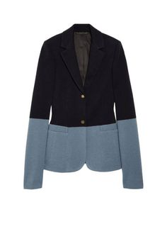 Try black on blue for the boardroom with The Row's wool-blend jersey blazer