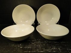 "FOUR Johnson Brothers ATHENA Cereal Bowls 6 1/2"" England Set of 4 EXCELLENT #JohnsonBros"