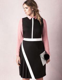 Asymmetrical Pleated Dress | Sweet Spot Collection | Women's Plus Size Fashion | ELOQUII