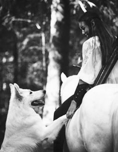 Faunalyn and a wolf Story Inspiration, Character Inspiration, Beautiful Creatures, Animals Beautiful, Animals And Pets, Cute Animals, Fantasy Magic, She Wolf, Horse Photography