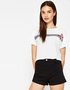 Camisetas - ROPA - MUJER - Bershka Colombia