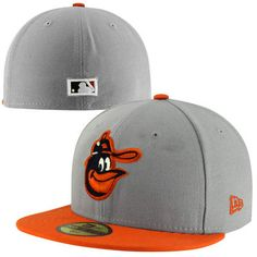2714c56fa New Era Baltimore Orioles Two-Tone 59FIFTY Fitted Hat - Gray Orange