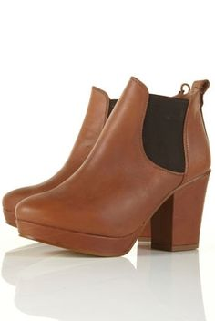 ALLEGRA Tan Chelsea Platform Heeled Boots - New In This Week - New In - Topshop - StyleSays