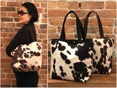 Cowhide Tote purse, Eco Friendly Faux Cowhide bag, Brown Cowhide, Black Cowhide shoulder Bag. Animal print bag, Cowhide Tote Bag, Cow print Cowhide Fabric, Cowhide Bag, Cowhide Leather, Animal Print Purses, Leopard Purse, Cow Print, Printed Bags, Tote Purse, Bag Making