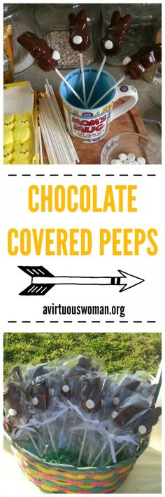 How to Make Chocolate Covered Peeps @ AVirtuousWoman.org #spring #peeps
