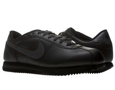 All Black Nike Running Shoes Nike Cortez Basic Leather  Mens Running Shoes   Pictures