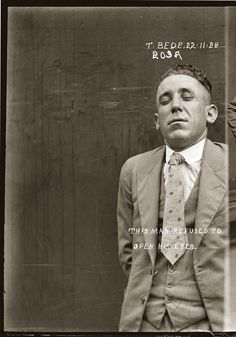 Let's take a minute to appreciate how awesome police mugshots were in the 1920s. - Imgur