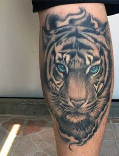 Tiger Tattoo Design For Guys