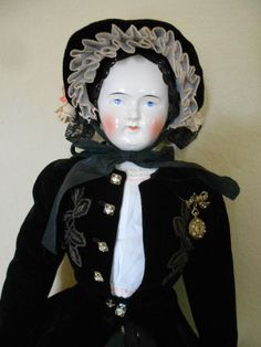 """Mary Todd Lincoln- Antique Pink Tint China Head-34"""" Tall"""