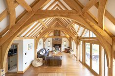 Bespoke oak framed buildings and garden rooms Timber Roof, Timber Frame Homes, Timber House, Timber Frames, Oak Framed Buildings, Wooden Buildings, Timber Structure, Building Structure, Metal Building Homes