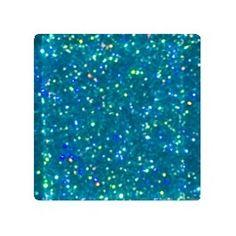 Cerulean Blue Glitter Glass Tile