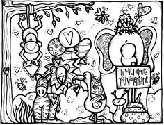 valentine's day coloring pages | Valentine's Day coloring page