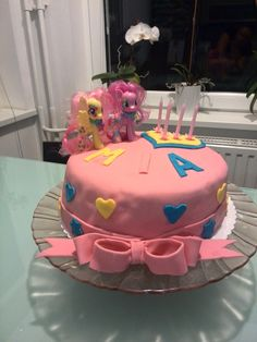 My little pony bithday cake, fondant cake