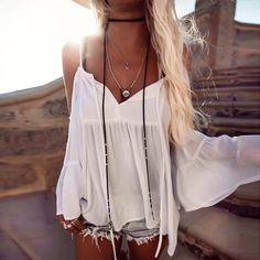Amazon.com: Mandystore Women Off Shoulder T-Shirt Long Sleeve Loose Blouse Tops for Women: Clothing