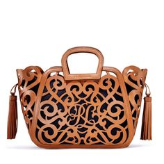 Ralph Lauren Small Vachetta Scroll Tote in Brown (Tan) | Lyst , Very beautiful and creative