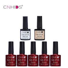 CNDHIDS 5PC Nail Gel Polish Top Coat+ Base Coat LED Shining Colorful 132 Colors10ML Long lasting soak off Varnish cheap Manicure #Affiliate