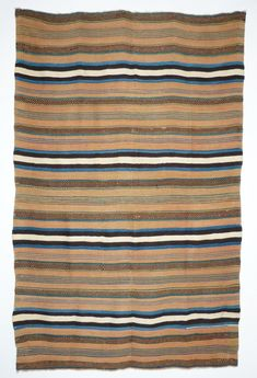 Brazilwood Rio Grande Textile, c.1860 | Shiprock Santa Fe Santa Fe Plaza, Navajo People, Indian Blankets, Southwestern Art, Cowboys And Indians, Striped Rug, Native American Tribes, Deep Water, Pattern And Decoration