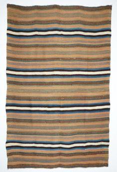 Brazilwood Rio Grande Textile, c.1860 | Shiprock Santa Fe Santa Fe Plaza, Navajo People, Santa Fe Trail, Indian Blankets, Southwestern Art, Cowboys And Indians, Striped Rug, Native American Tribes, Deep Water