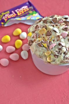 Cadbury Mini Egg Cake Dip