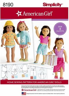 American Girl Doll Clothes Pattern, 18 inch Doll Clothes Pattern, Simplicity…