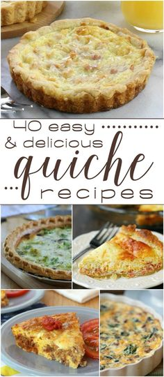 52 Ideas for party food easy savoury quiche recipes What's For Breakfast, Breakfast Dishes, Breakfast Recipes, Quiches, Quiche Recipes, Brunch Recipes, Party Recipes, Basic Quiche Recipe, Recipes Dinner