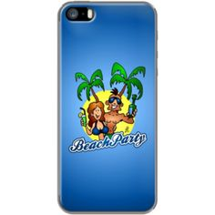 Beach Party By CardVibes for Apple iPhone 5/5s #TheKase #Cardvibes #Tekenaartje #iPhone #Smartphone #cover #case