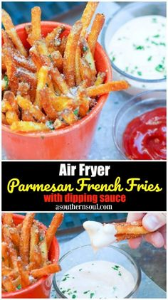 Air Fryer Parmesan French Fries with Dipping Sauce A Southern Soul - Air Fryer Recipes