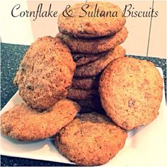 Cornflake & Sultana Biscuits Bellini Recipe, Muffin, Cooking Recipes, Cookies, Baking, Breakfast, Desserts, Ideas, Thermomix