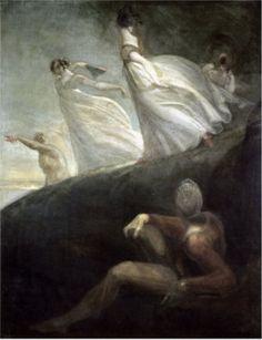 Henry Fuseli (Swiss 1741–1825) The Ladies of Hastings, circa 1800.