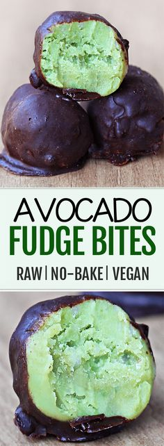 These healthy avocado chocolate truffles are super addictive, and so easy to make!