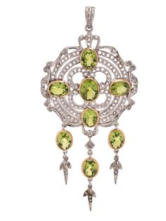 PERIDOT AND DIAMOND PENDANT | Estimate: $800 - $1,200 | Essential Jewelry | February 6, 2020