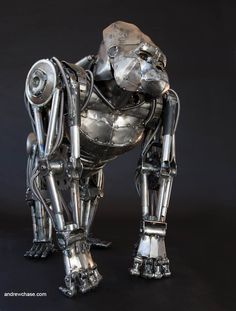 Steampunk Tendencies | Andrew Chase #Metalart #Sculpture #Mechanical #Gorilla