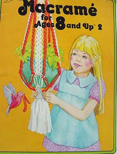 Vintage macramé book!  Everyone had these back in the day.