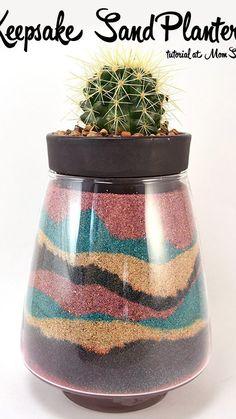 Sand Art Crafts, Arts And Crafts, Vase Crafts, Colored Sand, Strip Lighting, Planter Pots, Craft Ideas, Diy Ideas, Diys
