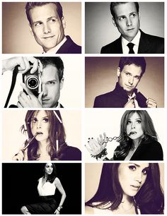Harvey is sexy, Mike is adorable, Donna is amazing, and Rachel is gorgeous!