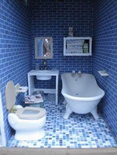 how to make dollhouse bathroom furniture