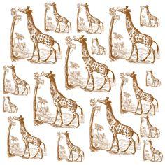 Vintage Giraffes fabric by peacefuldreams on Spoonflower - custom fabric