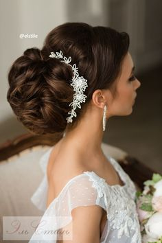 Best Ideas For Wedding Hairstyles : Featured Wedding Hairstyle: Elstile; Casual Wedding Hair, Wedding Bun, Elegant Wedding Hair, Elegant Updo, Trendy Wedding, Unique Wedding Hairstyles, Bride Hairstyles, Headband Hairstyles, Hairstyle Wedding
