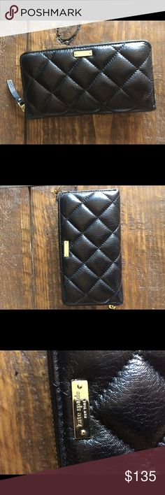 Kate Spade Lacey Quilted Continental Wallet 100% Authentic Kate Spade Lacey quilted continental wallet• excellent condition, absolutely no signs of wear• 12 card slots• 7.5 in across x 4.25 in height• 2 cash slots with an additional coin pouch in between card slots kate spade Bags Wallets