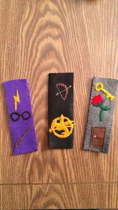 Felt bookmarks for your favorite book or series!  So cute, cheap and easy to do!