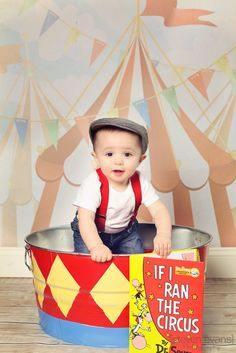 Here he is my little guy Weston all set for his Circus Themed 1st birthday party. This was a picture we took for his invitation.