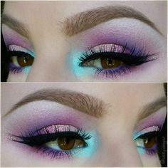Image result for rainbow fairy makeup