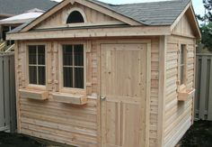 8ft x 10ft custom cedar shed with dormer by Flamborough Patio