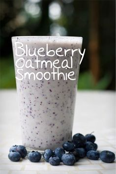 Blueberry Oatmeal Smoothie - Click for ingredients and directions!