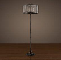 bedroom 3 standing lamp, RIVETED MESH FLOOR LAMP from RH $725