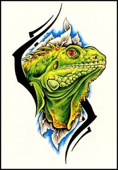 Lizard Tattoo. I want something like this for Winston but not AS intricate.