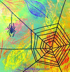 Line Frøslev: Supernem halloween idé Fall Art Projects, School Art Projects, Kindergarten Art, Preschool Art, Third Grade Art, October Art, Jr Art, Ecole Art, Insect Art
